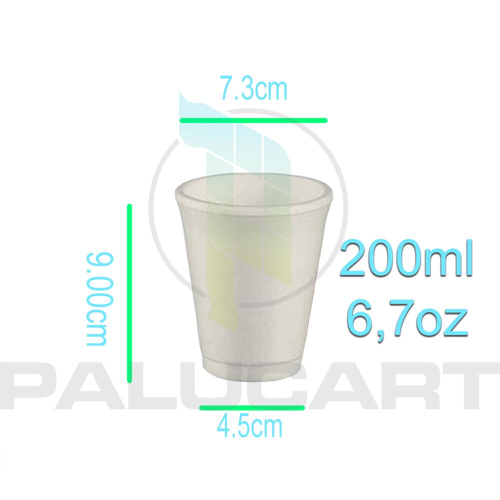 Bicchieri termici in polistirolo 200 cc 560pz palucart for Bicchieri termici